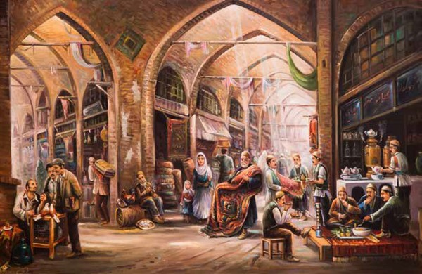 Painting of The Grand Bazaar